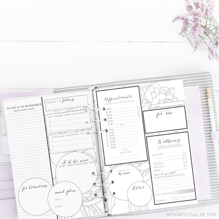 Day planner page