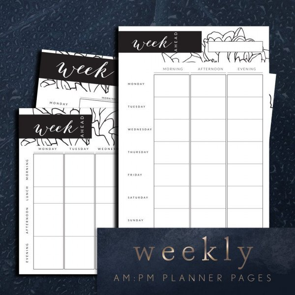 Week ahead planner printable