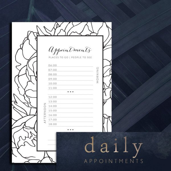 Appointments printable planner page
