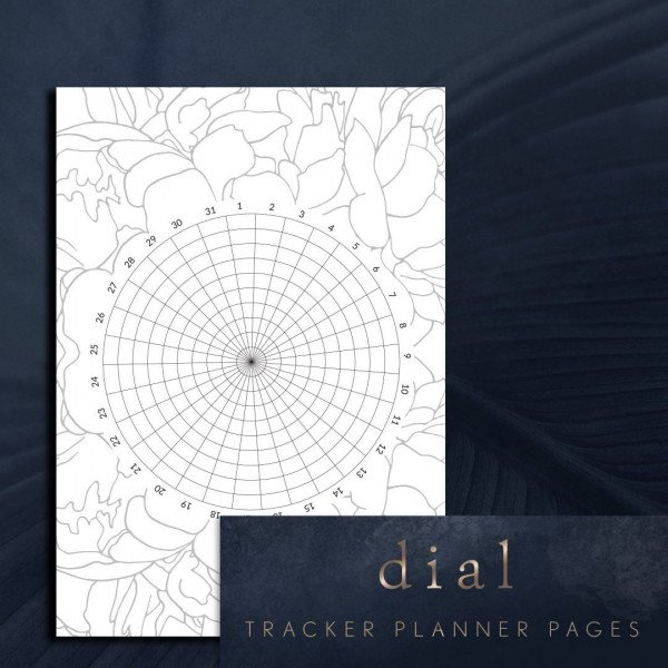 Dial tracker planner page
