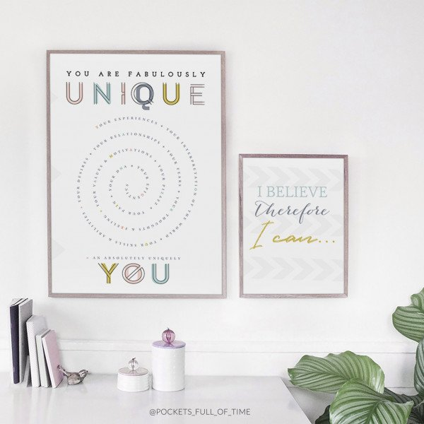 Unique You Poster Print