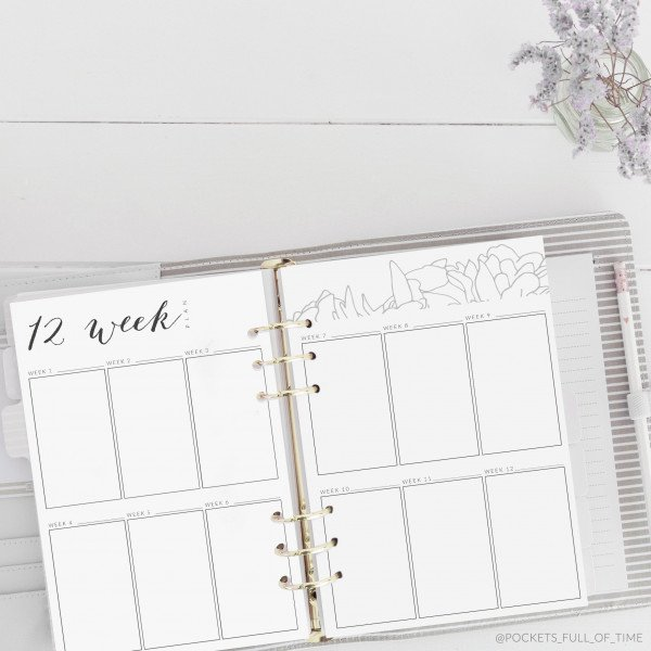 planner printable 12 week simple plan