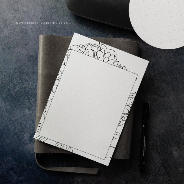 planner printable designed blanks dot grid