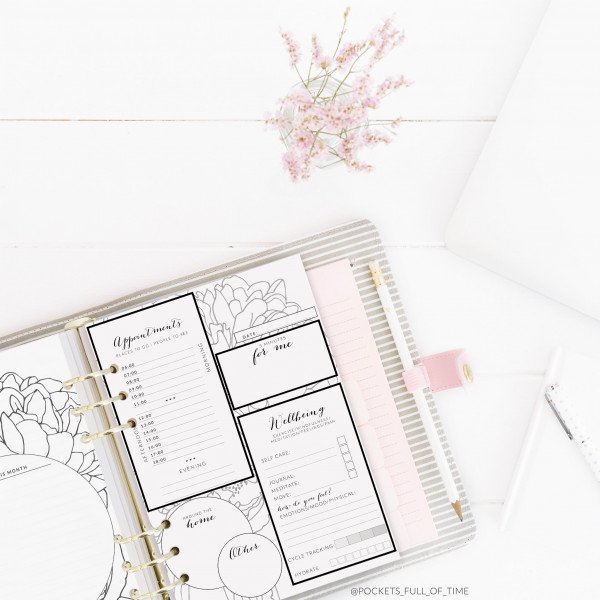day planning planner printable