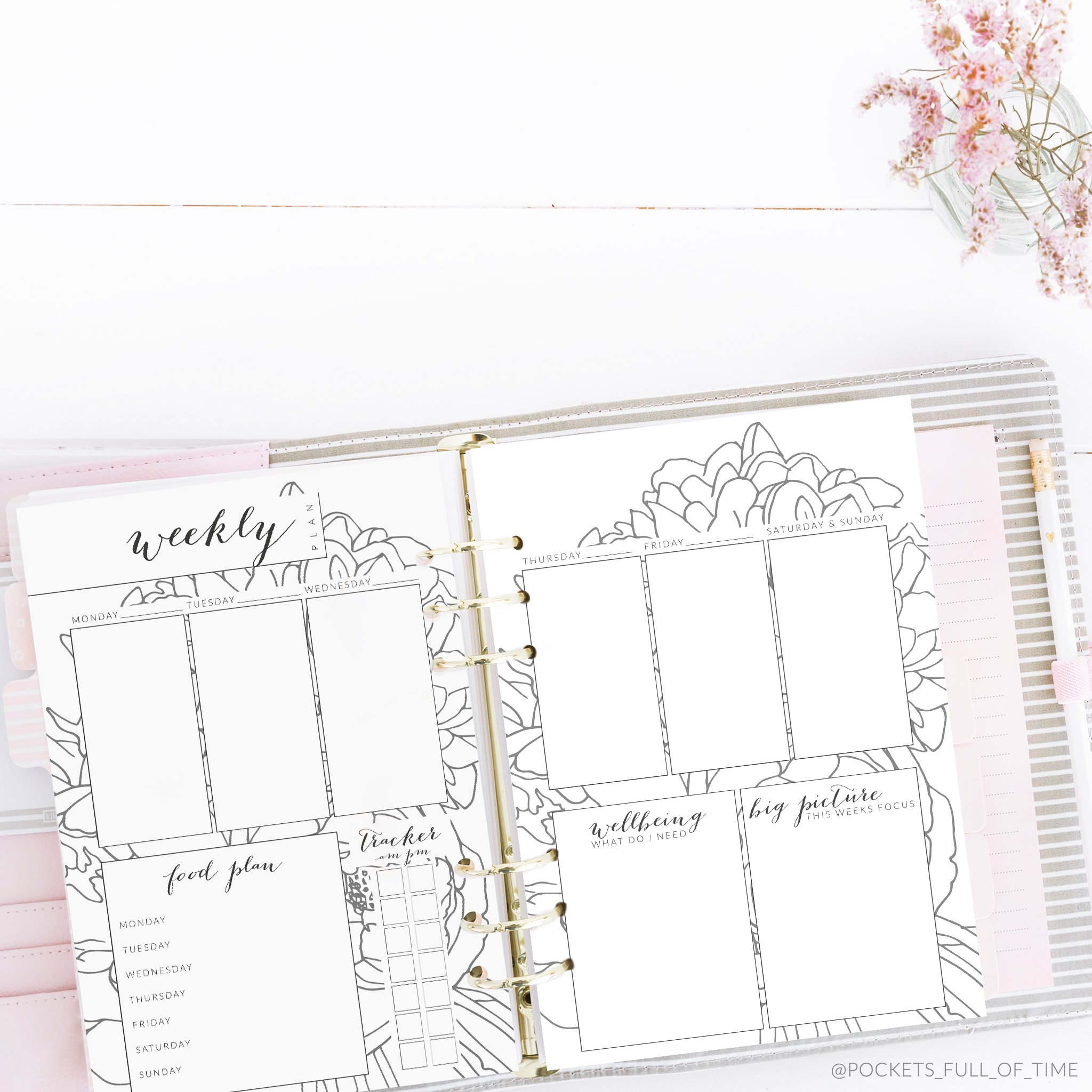 picture relating to Goals Printable titled 7 days Forward Planner 12 7 days notice III