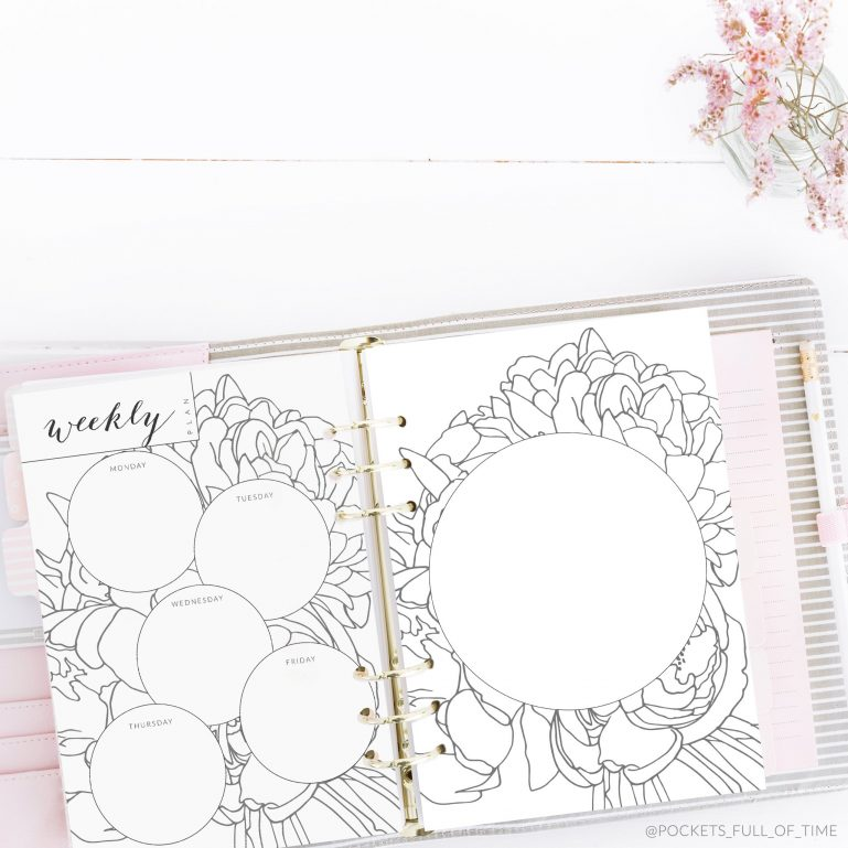 simple weekly planner circles pockets full of time