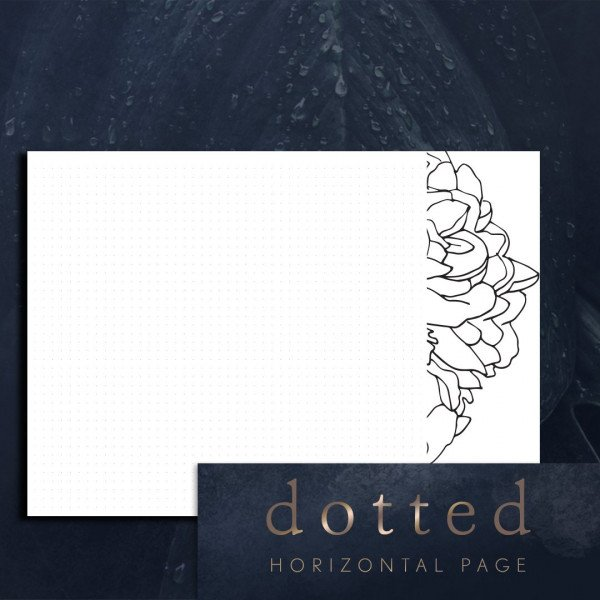 horizontal dotted blank page planner printable