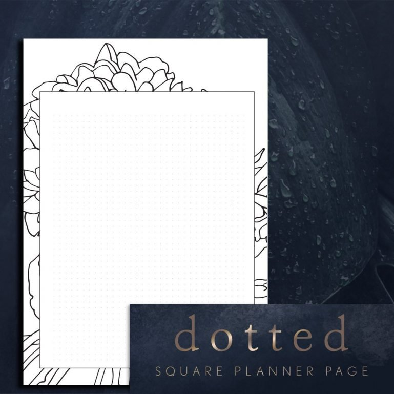 Square dotted blank page planner printable