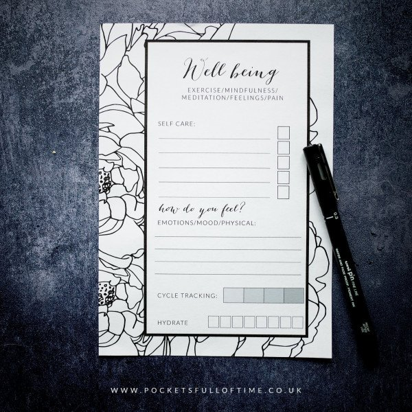 Planner printable well being