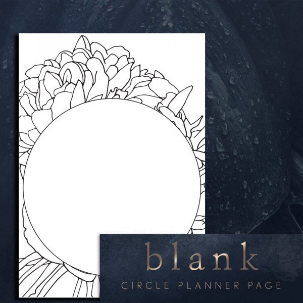 Blank pages circle I