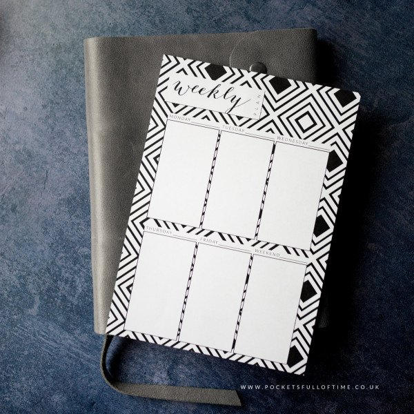 simple stylish week ahead planner printable