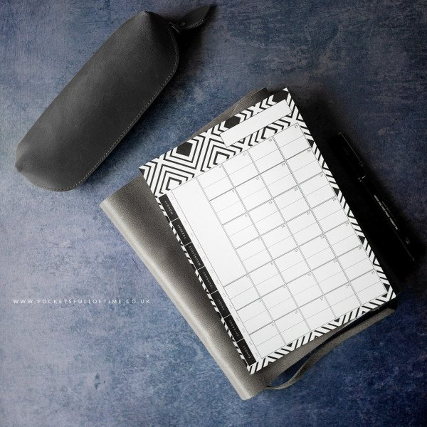undated monthly planner printable everygreen planner journal