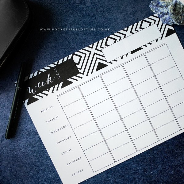 weekly planner printable 5 column family planner