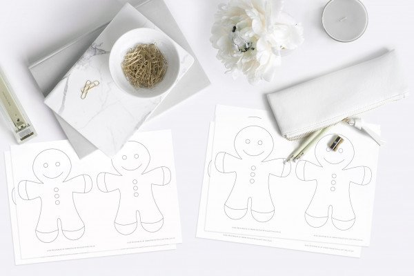 christmas gingerbread man printable kids