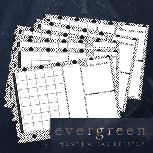 Photographers desktop monthly planner due dates to edit