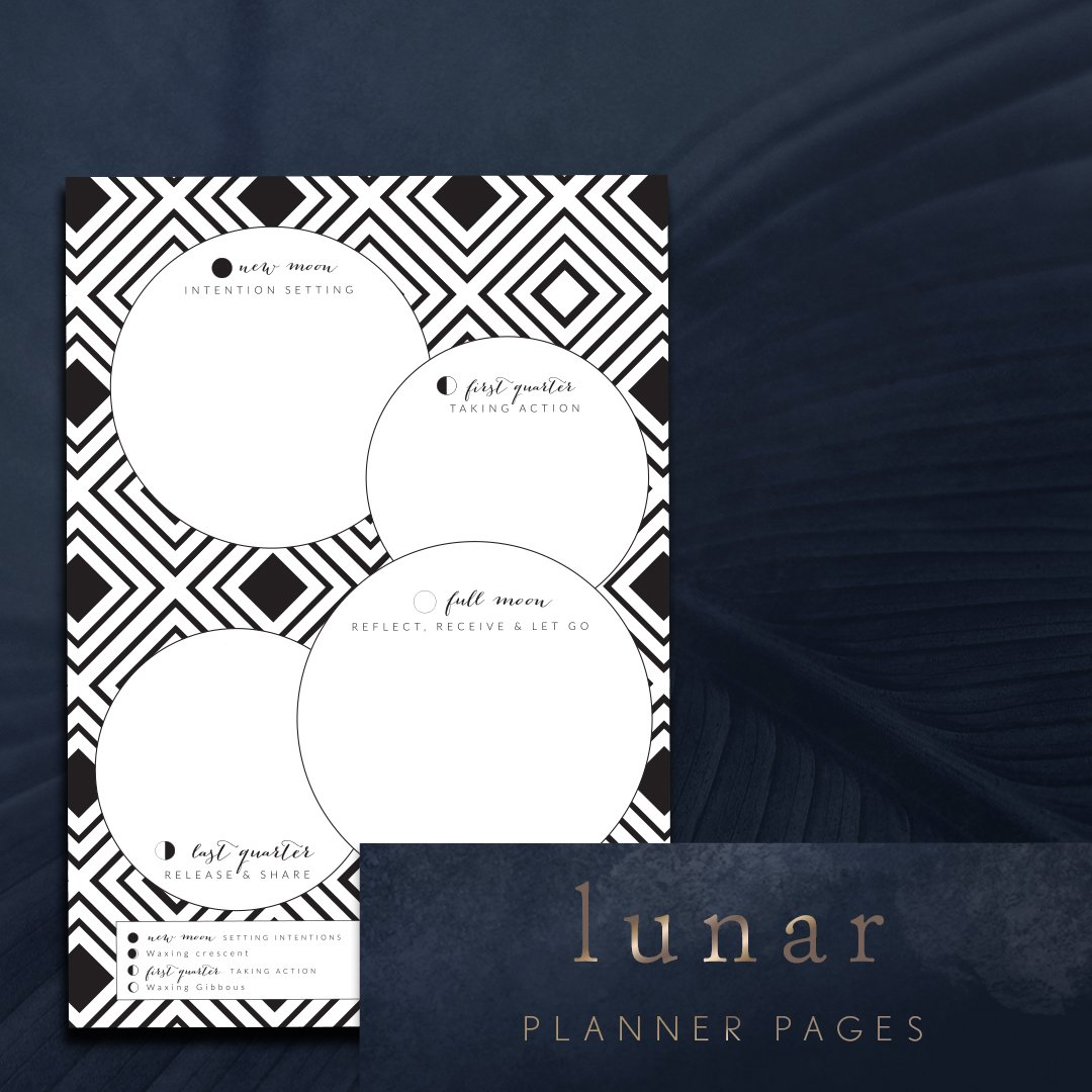 new moon intention sessioninew moon intentions setting lunar planning pageng lunar planning page