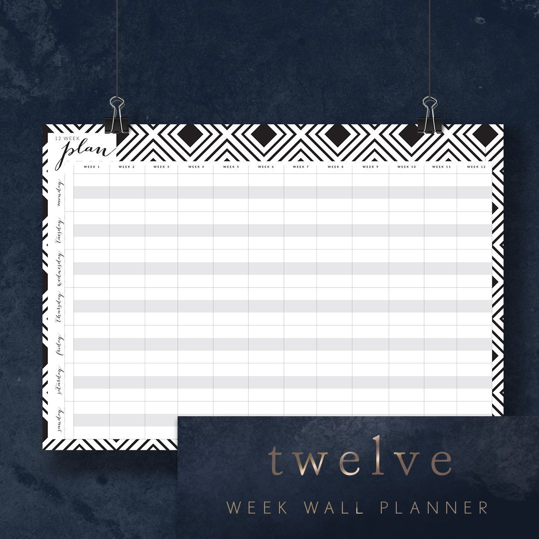 12 week wall planner poster print at home up to A1 size