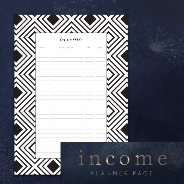 income tracker topaz