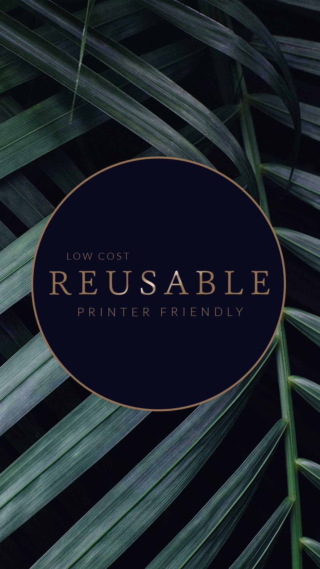 low cost reusable printer friendly planner pages